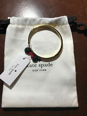 New Disney Parks Kate Spade Minnie Mouse Limited Bangle Bracelet Red Bow