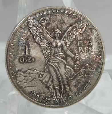 Mexico 1994 Libertad 1 oz 999 Fine Silver Coin Lustrous Great Toning C0479