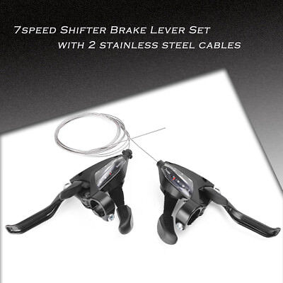 EF500-7 3x7S Bike Brake Shifters Brake Levers & Shift Levers for SHIMANO Black