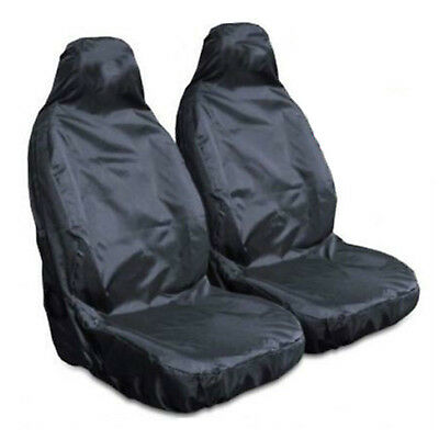 Top Heavy Duty Front Seat Covers Universal Car Van Waterproof Protectors Black