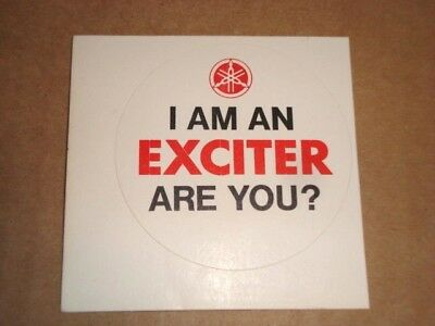 Vintage 1968 Yamaha dealership promotional sticker/decal . Meet the Exciters/DT1