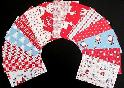 """*CHRISTMAS FUN* Colourful Christmas Scrapbooking Papers *15cm x 10cm (6 """"X 4"""")"""