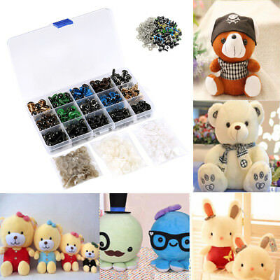 264PCS Safety Eyes Colorful Teddy Bear Doll Animal Crafts Toy Making 6-12mm