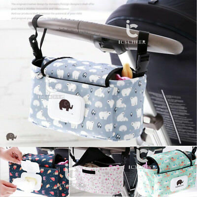 Pushchair Organizer Baby Carriage Pram Stroller Accessories Storage Hanging Bag
