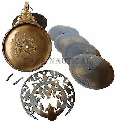 13''Vintage Antique Brass Persian Ottoman Astrolabe Arabic Islamic Navigation