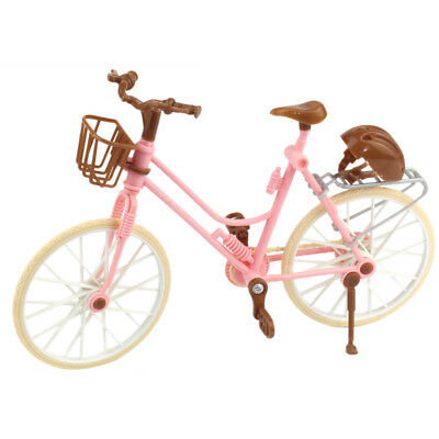1x Exquisite Detachable Plastic Bike Bicycle Kids Toy fits Doll Toys Pink UK