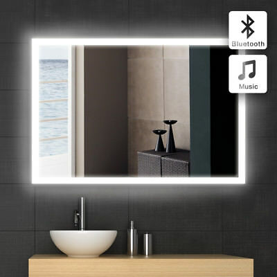 Led Illuminated Bathroom Mirror With Bluetooth Speaker / Ip44 Or Bath Washer