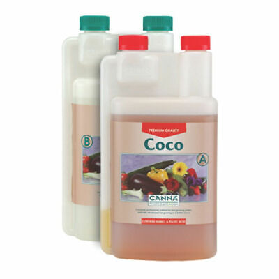 Canna A+B Coco 1 Litre Veg And Flower Plant Food Base Nutrients Hydroponics UK
