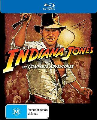 Indiana Jones The Complete Collection Blu-ray Region B NEW
