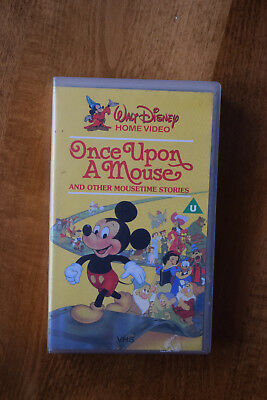a62b5fb5a47 ONCE UPON A mouse vhs disney tape - £10.00 | PicClick UK