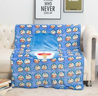 Doraemon blue cat fuzzy fold quilt blanket rugs cushion quilt rugs new