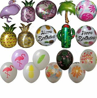 Tropical Flower Flamingo Pineapple Cactus Balloon Hawaii Caribbean Luau Party