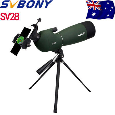 SVBONY 25-75x70mm Angled Zoom Spotting Scope+Telescope Tripod&Phone Adapter AU