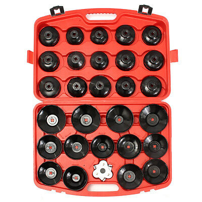 30PCS Cup Type Oil Filter Cap Wrench Socket Automotive Removal Tool Set W/case