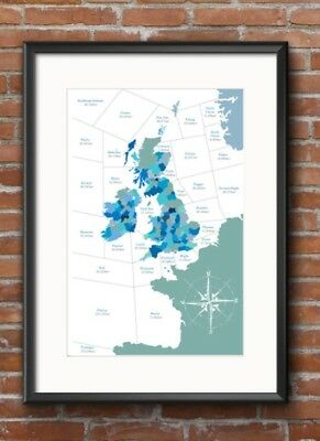 Illustration of the Shipping Forecast Map....in A3 size