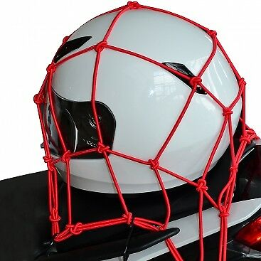 "Oxford Cargo Net 6 Hook Motorcycle Motorbike Luggage Red  12"" x 12"" OF128 OLD"