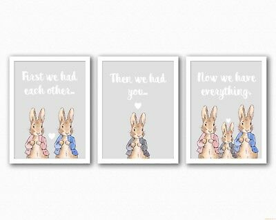 Nursery Prints - Peter Rabbit - First We Had Each Other - UNFRAMED - Prints