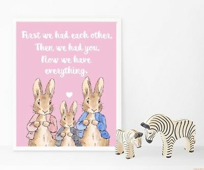Nursery Prints - Peter Rabbit - First We Had Each Other - Single Print