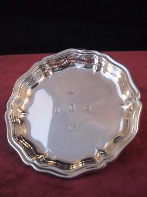 Vintage Hallmarked Solid  Sterling Silver  Card Tray /  Pin Dish Birmingham