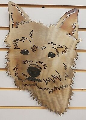 Norwich Terrier Face Steel Wall Art