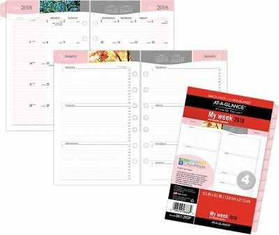 At-A-Glance Day Runner Special Edition Weekly-Monthly Planner Refill Size 4 -