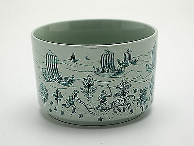 Paul Hoyrup Nymolle Art Faience Denmark Trinket Box Bottom Ltd. Ed Viking Scene