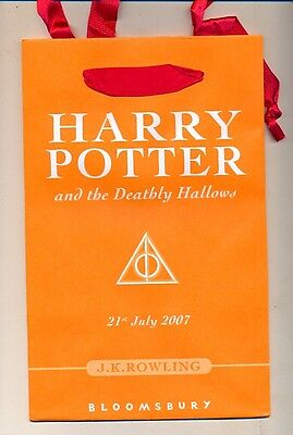 Harry Potter and the Deathly Hallows - launch book bag - RARE new old stock 2007