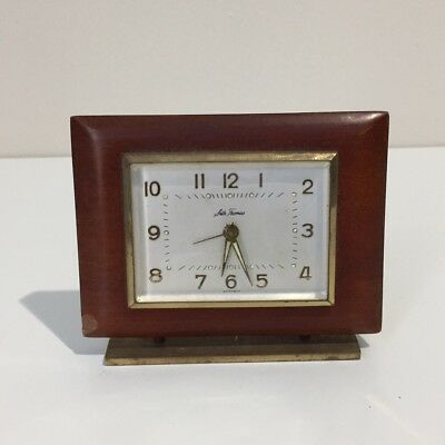 Vintage Seth Thomas Mantel Table Alarm Clock One Jewel Unadjusted *Not Working*