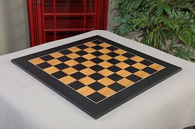 "Blackwood and Olivewood Standard Traditional Chess Board - 2.375"" - SATIN FINISH"