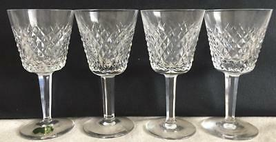 "4 - 5-7/8"" Claret Wine Glasses  Alana by Waterford Hand Made Republic of Ireland"