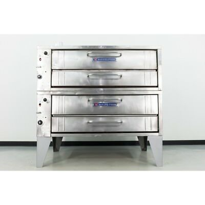 "Used Bakers Pride 351 55"" Double Deck Gas Deck Oven"