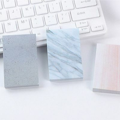 Rectangle Sticky Tearable Square Notebook Marble Texture Sticky Notes Memo Pad