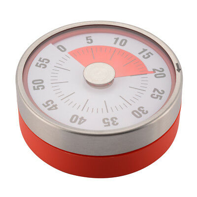 60-Min Kitchen Timer Mechanical Counter Alarm Reminder Cooking Magnetic HS1129