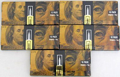 Empire Rolling Papers 5 WALLETS of $100 Dollar Bill Paper Plus Tips (50 PAPERS)