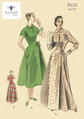 """Vintage 1950's Sewing Pattern Vogue House Coat Robe Dressing Gown  Bust 36"""""""