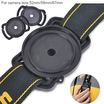 Lens Cap Holder Buckle Keeper For 52mm 58mm 67mm Nikon Canon Sony Pentax