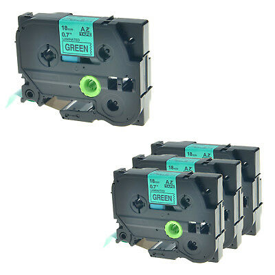 4 Pack for Brother TZ741 TZE741 TZE-741 PTouch Label Tape P-Touch TZ-741 PT-2730