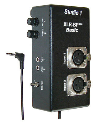 XLR Audio Adapter for Camcorders - XLR-BP Basic Studio 1 Productions - NEW