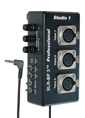 XLR Audio Adapter for Camcorders XLR-BP 3 Pro Basic Studio 1 Productions - NEW