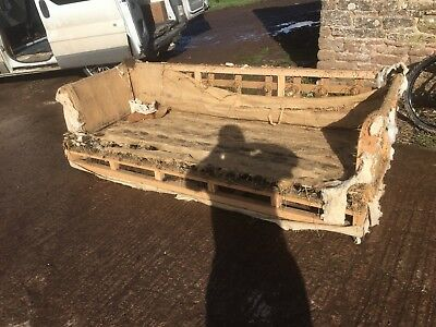 4 Seater Antique Sofa Restoration Project