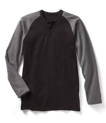 Brand New! Rasco FR Flame Resistant Henley T-Shirt Grey and Black Two tone color