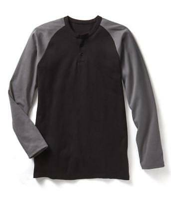 Brand New! Rasco FR Flame Resistant Long Sleeve Henley T-Shirts -Two tone colors