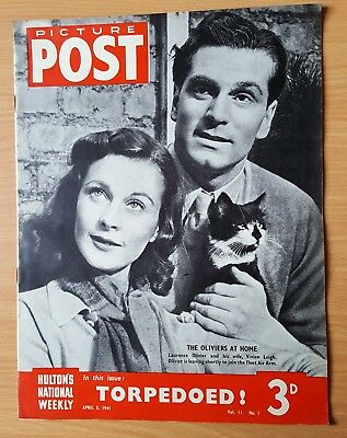 Vintage Picture Post April 5th1941 Vivien Leigh Laurence Olivier, P.T. Children