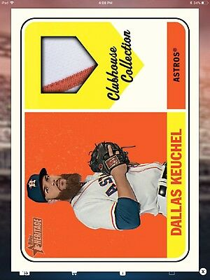 TOPPS BUNT digital Dallas Keuchel Clubhouse Collection. Please read description.