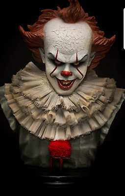 IT PENNYWISE Maquette Life Bust 1:1 scale statue Nt Sideshow Chucky Rare Custom