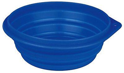Trixie Silicone Travel Bowl 0.5l Water Food Fold Flat Collapse Dishwasher Safe