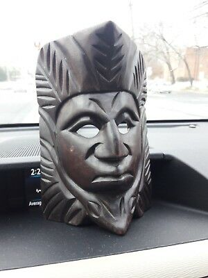 Hand carved wood mask native american