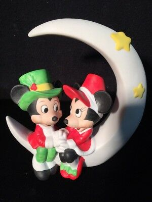 VINTAGE Disney MICKEY OVER THE MOON FOR MINNIE CHRISTMAS RARE VERY UNIQUE PIECE