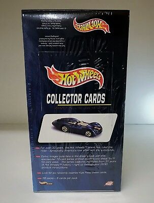 Hot Wheels Collector Cards - Sealed Trading Card Hobby Box - Comic Images 1999