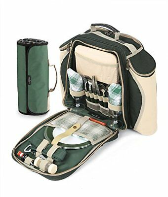 Greenfield Collection Deluxe Two Person Backpack With Blanket, verde (U1s)